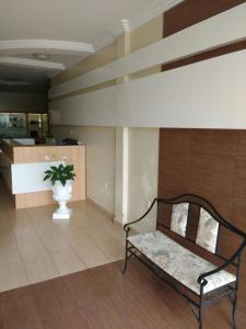 The lobby or reception area at Hotel Continental