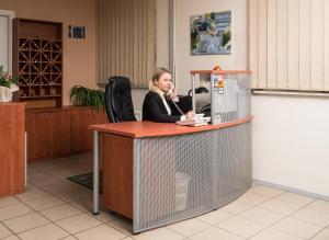 The lobby or reception area at Lilleküla Hotel