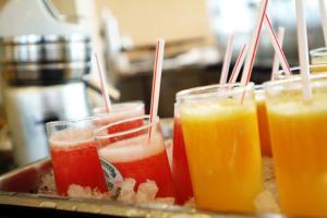 Getränke in der Unterkunft Hotel der Rastanlage im Hegau OST