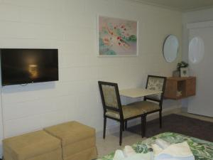 A television and/or entertainment center at Greenfields