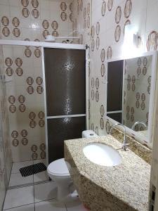 A bathroom at Moradas Elene