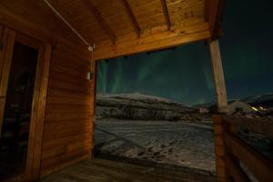 Bragdavellir Cottages during the winter