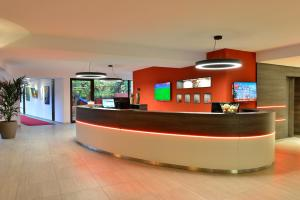 The lobby or reception area at Michel Hotel Wetzlar