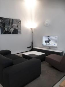 A seating area at Urban Residences Maastricht