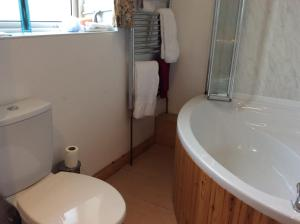 A bathroom at Comber Courtyard Apartment