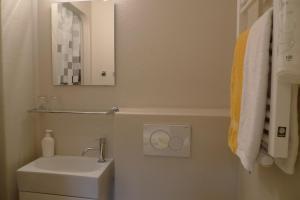 Een badkamer bij B&B Barge Johanna