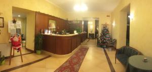 The lobby or reception area at Hotel Villa Laura