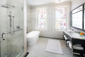 A bathroom at The Adelphi Hotel