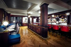 The lounge or bar area at The Adelphi Hotel