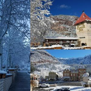 Ouray Chalet Inn during the winter