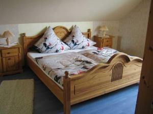 Ein Bett oder Betten in einem Zimmer der Unterkunft Ferienwohnung Haus Andre - für 4 Personen
