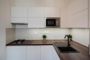 Kuchyňa alebo kuchynka v ubytovaní Apartman Heller