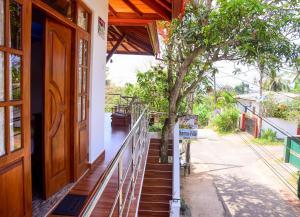 A balcony or terrace at Channa Villa & Tours