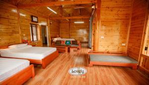 Un ou plusieurs lits dans un hébergement de l'établissement Huy Trung Homestay