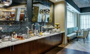 A restaurant or other place to eat at DoubleTree by Hilton Charlotte Gateway Village