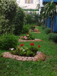 A garden outside Hotel Sindibad