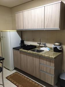 A cozinha ou cozinha compacta de Excelente Apto 1D c/ Box