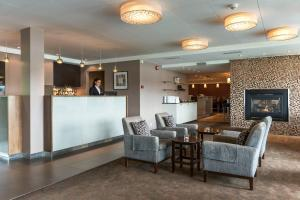 The lobby or reception area at Tyrifjord Hotel