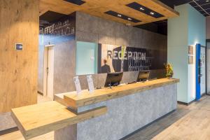 Hall o reception di ibis budget Geneve Palexpo Aeroport