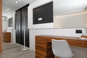 TV i/ili zabavni centar u objektu Apartments Bikin
