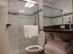 A bathroom at Quality Inn near Sunset Park