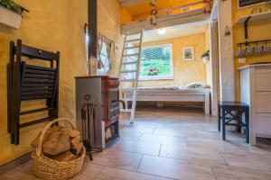 A bunk bed or bunk beds in a room at House Gabrijel with four seasons outdoor kitchen