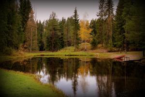 Lomakylän lähellä sijaitseva luonnonmaisema