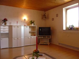 A television and/or entertainment center at Pension & Ferienwohnung Brückner