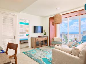 A seating area at Margaritaville Hollywood Beach Resort