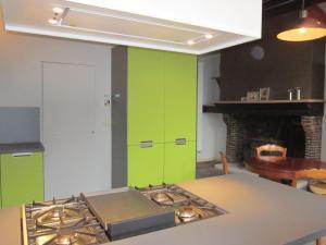 A kitchen or kitchenette at Geldmunt Apartment