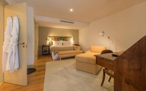 Uma cama ou camas num quarto em Quinta do Vallado Wine Hotel