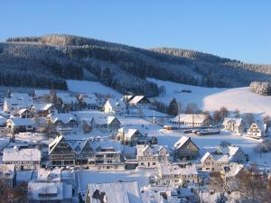 Gasthof Westfeld during the winter