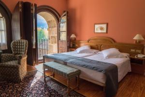 Cama o camas de una habitación en Hostería del Monasterio de San Millan