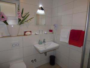 Ein Badezimmer in der Unterkunft Landhaus Am Sonnenberg