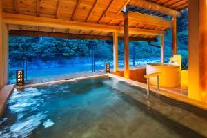 The swimming pool at or close to Kurobe UnazukiOnsen Togen