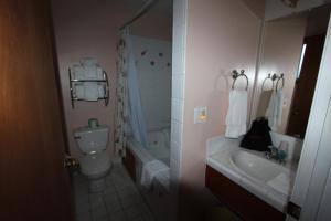 A bathroom at Edgewater Beach Inn & Suites