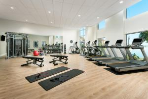The fitness center and/or fitness facilities at AC Hotel by Marriott San Francisco Airport/Oyster Point Waterfront