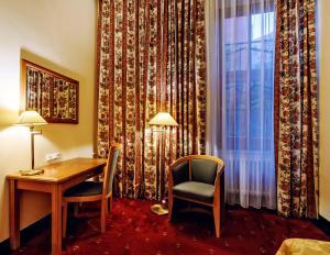 Гостиная зона в Grandhotel Brno