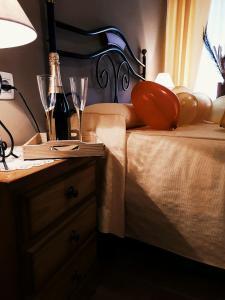 Кровать или кровати в номере Hostal Paulino