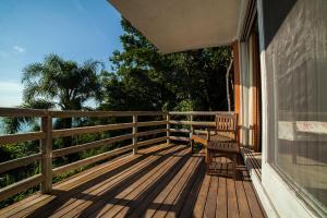 A balcony or terrace at Resort Refúgio do Estaleiro