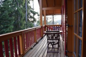 A balcony or terrace at Holiday Apartment Bolfenk