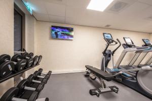 Het fitnesscentrum en/of fitnessfaciliteiten van Monet Garden Hotel Amsterdam