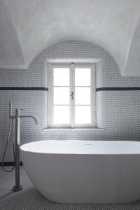 Koupelna v ubytování Stajnhaus