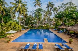 The swimming pool at or near Daluyon Beach and Mountain Resort