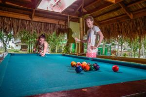 A pool table at Daluyon Beach and Mountain Resort
