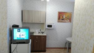 Телевизор и/или развлекательный центр в Studio u Permskoy Yarmarki