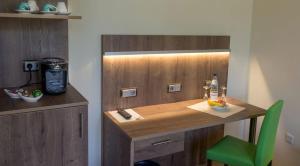 Küche/Küchenzeile in der Unterkunft Zeitlers Hotel & Apartments