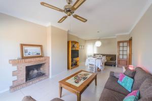 Zona de estar de Cubo's Apartamento Tarajes La Cala