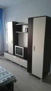Телевизор и/или развлекательный центр в Апартаменты с балконом на Усадской