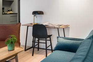 A seating area at Frogner House Apartments- Helgesens gate 1